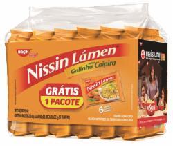 MACARRAO INSTATANEO  NISSIN LAMEN LV6 PG5 GALINHA CAIPIRA