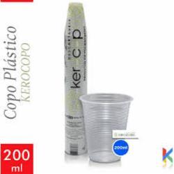 COPO KEROCOPO DESCARTAVEL 200ml TRANSPARENTE C/100