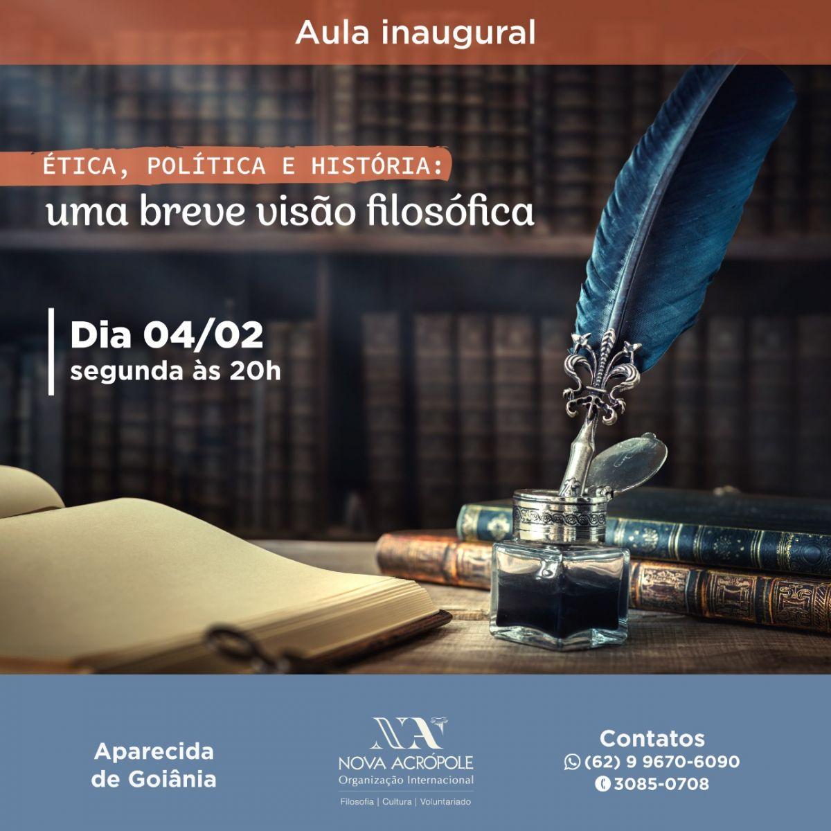 AULA INAUGURAL DO CURSO DE FILOSOFIA APLICADA