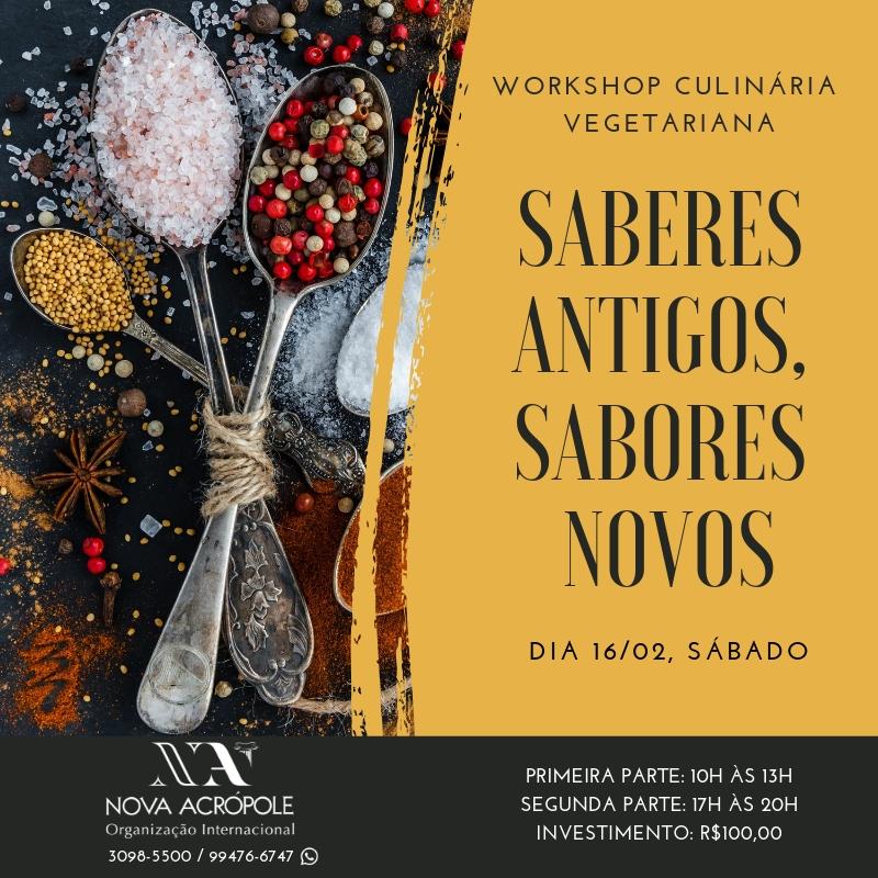 Workshop: Sabores Antigos, Saberes Novos