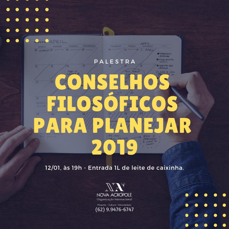 Palestra: conselhos filosóficos para planejar 2019