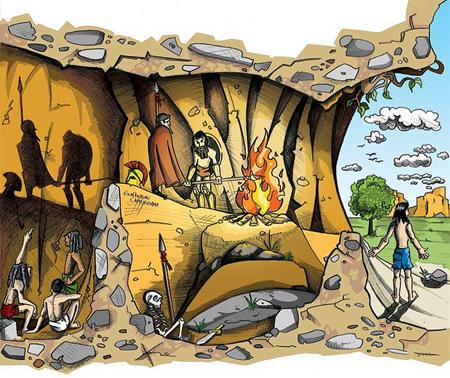 Curso de Filosofia Aplicada - Aula inaugural com o tema: O Mito da Caverna de Platão.