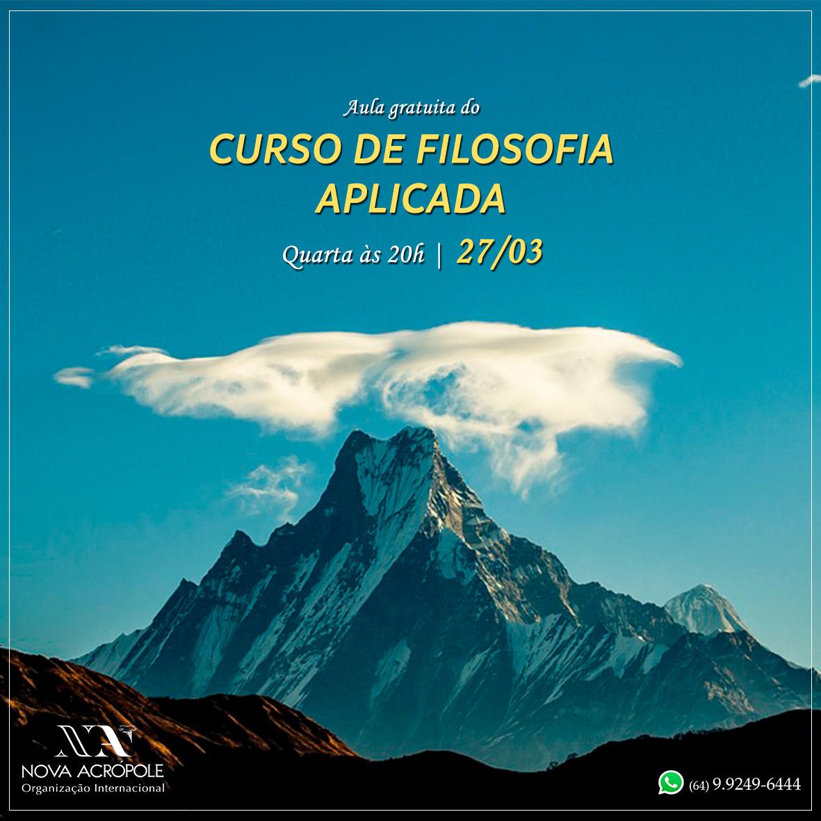 AULA GRATUITA DO CURSO DE FILOSOFIA APLICADA