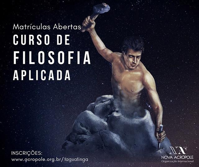 ABERTURA DE TURMA - Curso de Filosofia Aplicada