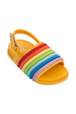 Mini Melissa Beach Slide Sandal Rainbow