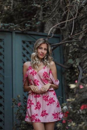 Vestido Floral com Blusê
