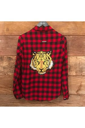 Camisa Xadrez Tiger - Edição Limitada