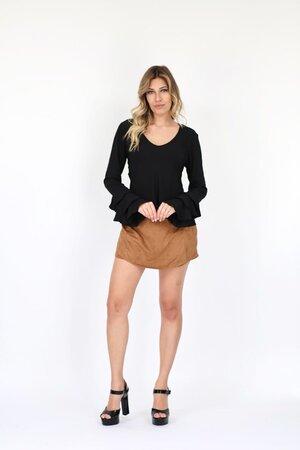 Shorts Saia Camurça