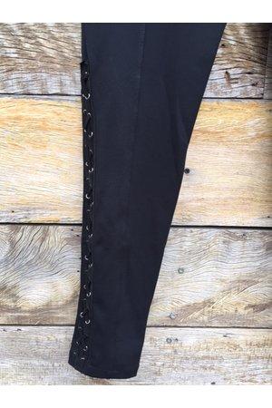 Calça Legging Trançada Barra