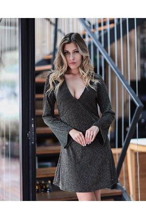 Vestido Listrado Lurex