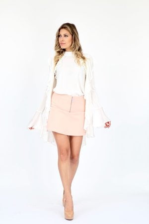 Shorts Saia Zíper Frente