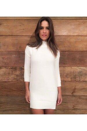 Vestido Tricot Barra Irregular