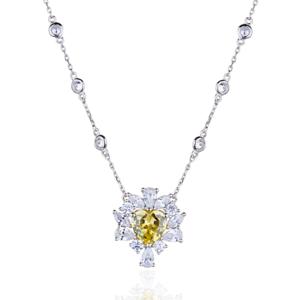 Colar Coração Tiffany Fancy Yellow