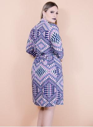 Vestido Cachecouer em Malha Fria Estampa Étnica