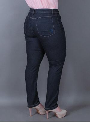 Calça Skinny em Jeans Dark Night II