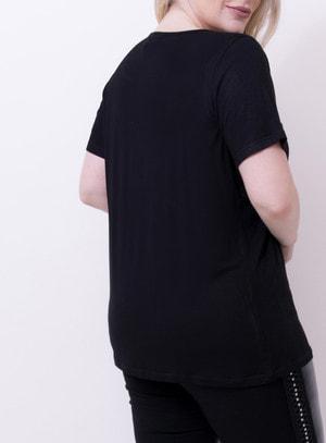 T-Shirt em Malha com Estampa