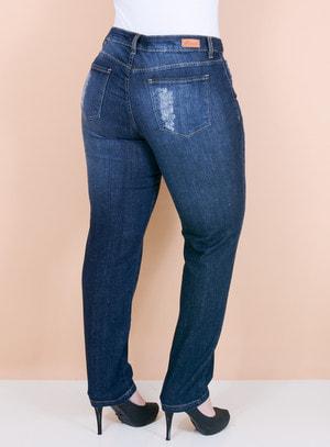Calça Jeans Skinny Clássica Destroyed