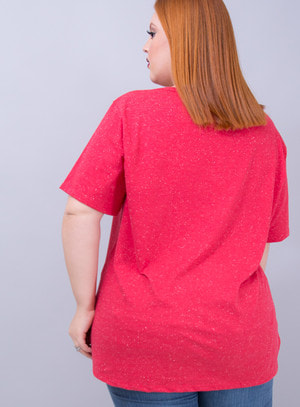 T-shirt em Malha Nothing To Hide! Chocker Cereja
