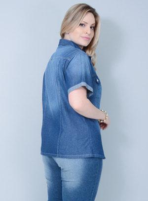 Camisa em Jeans Tradicional