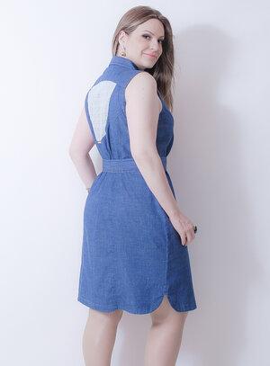 Vestido em Jeans Nicky Hilton