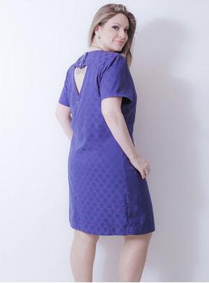 Vestido em Crepe Blue Rebel