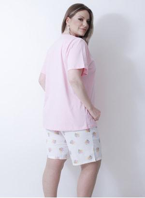 Pijama em Algodão Ipê Rosa
