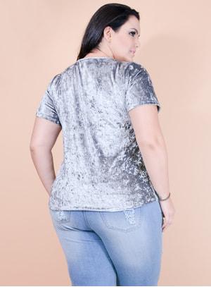 T-shirt em Veludo Molhado Love Yourself
