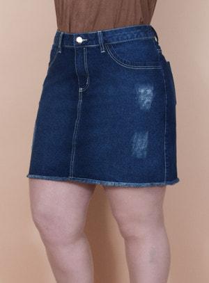 Saia em Jeans Destroyed