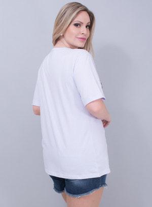 T-shirt em Algodão Beauty Queen Bordada