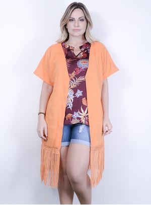 Kimono em Linho com Franjas