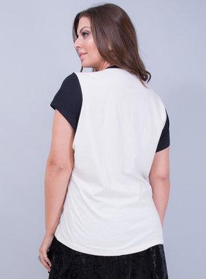 T-shirt em Malha Estampada