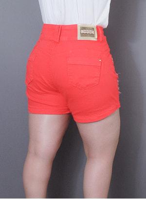 Short em Jeans Destroyed Alegro