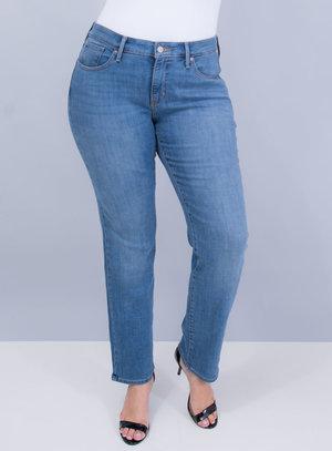 Calça Levi's Jeans Feminina 314 Shaping Straight Índigo