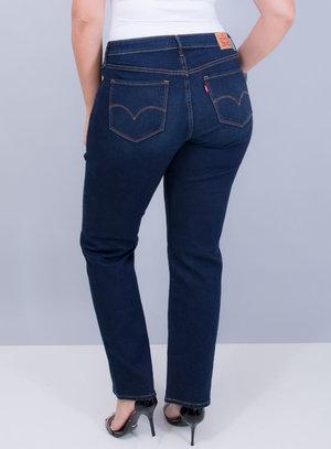 Calça Levi's Jeans Feminina 314 Shaping Straight Azul