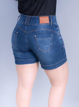 Short em Jeans Básico com Bolsos
