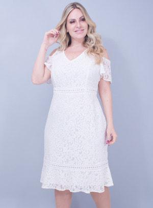 Vestido Ciganinha em Renda Branco