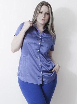 Camisa em Poliéster Katie Holmes