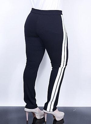 Calça Slim Track Pants Recorte Vertical na Parte Lateral
