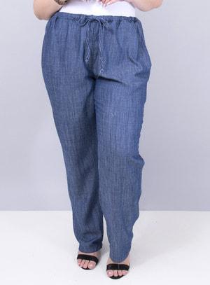 Calça em Tecel Pijama com Elástico