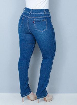 Calça Jeans Skinny Rasgada Lavagem Tradicional