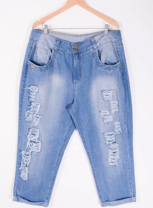 Calça em Jeans Boyfriend Destroyed