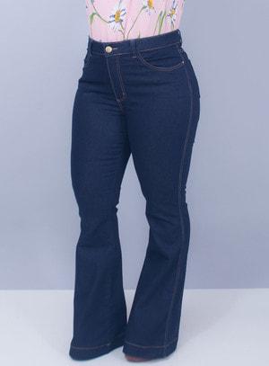 Calça Jeans Flare Lavagem Índigo