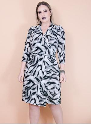 Vestido Cachecouer em Malha Fria Animal Print