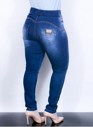 Legging Jeans com Bolsos