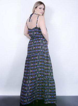 Vestido Strappy em Viscose com Cinto