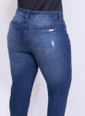 Calça em Jeans com Elastano Destroyed Skinny