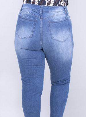 Calça em Jeans Cigarrete Destroyed