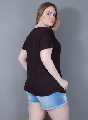 Blusa em Viscolycra Essential Black