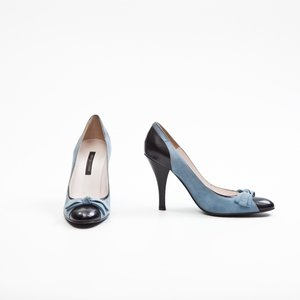 Sapato Sergio Rossi em Camurça Azul