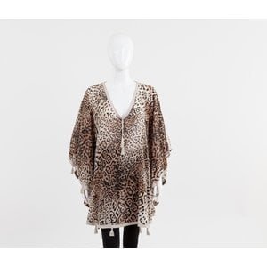 Caftan Nour curto animal print